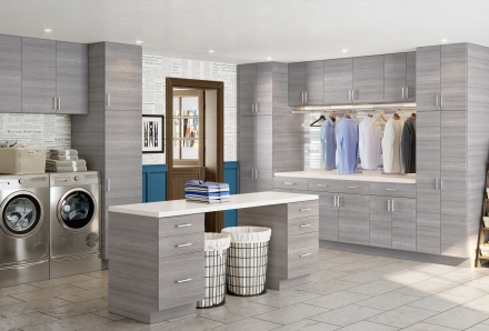 Madrid Grey Wood Laundry Room