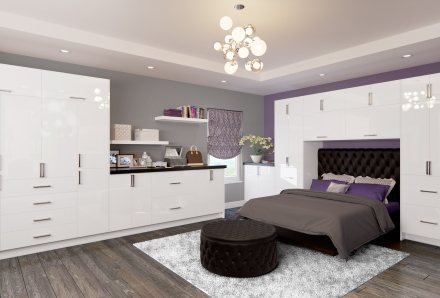 Palermo Gloss White Bedroom