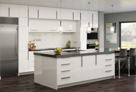 Palermo Gloss White Kitchen