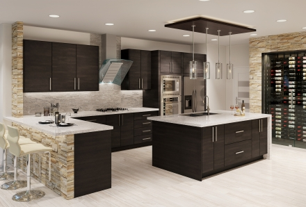 Torino Dark Wood Kitchen