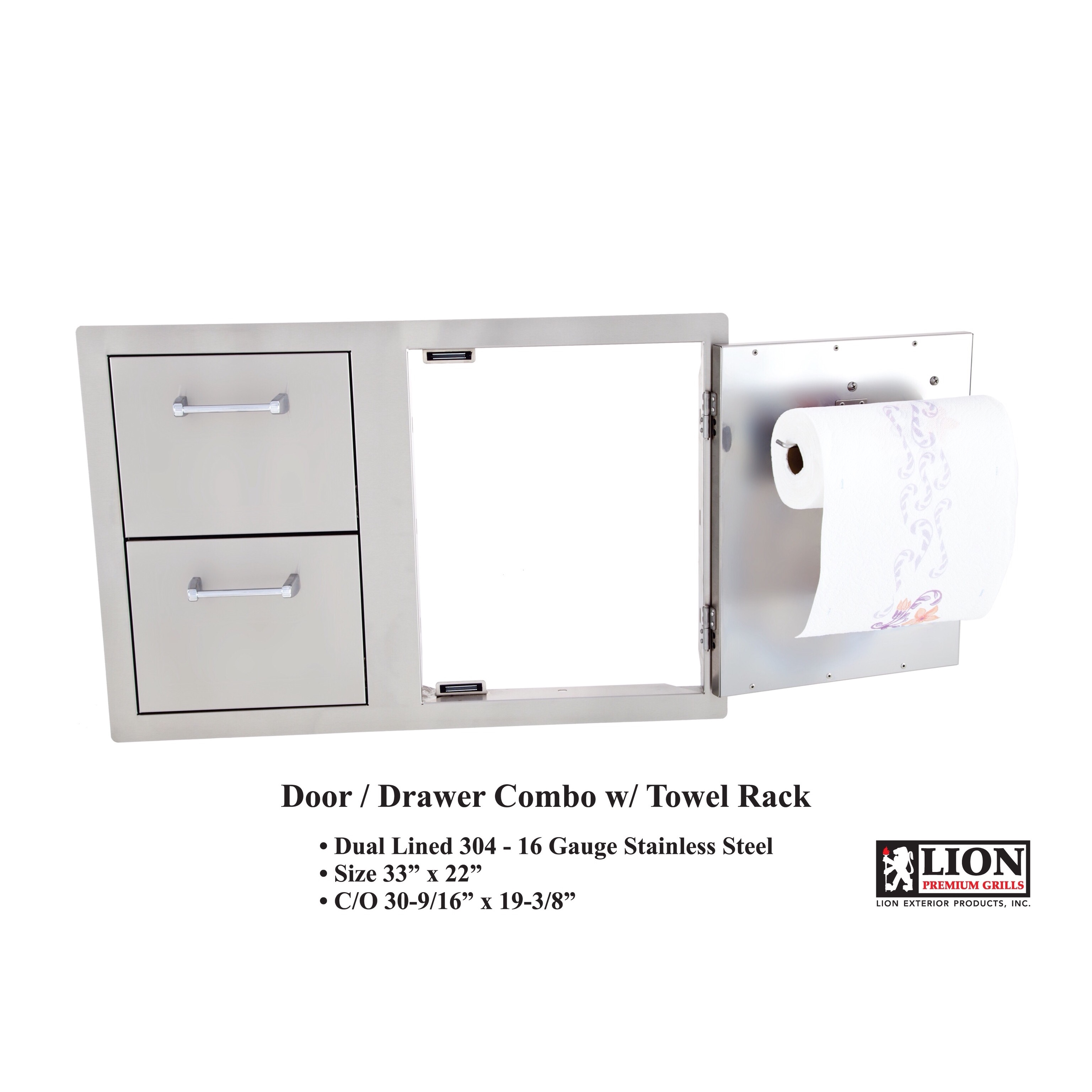 Door & Drawer Combo w/ Towel Rack
