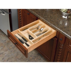 "Cut-To-Size Wood Cutlery Tray 14-5/8"" (4WCT-1SH)"