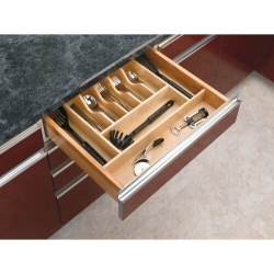 "Cut-To-Size Wood Cutlery Tray 20-5/8"" (4WCT-3SH)"
